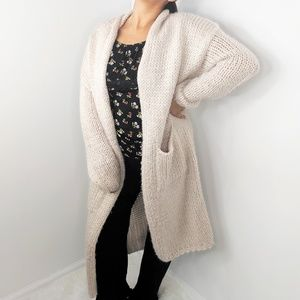 FASHION NOVA Pink Mauve Cable Knit Cardigan
